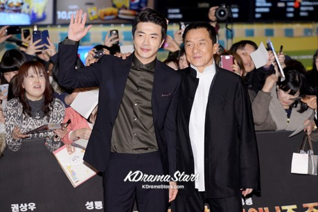 Sung Ryong and Kwon Sang Woo at Movie 'Chinese Zodiac' VIP Premiere