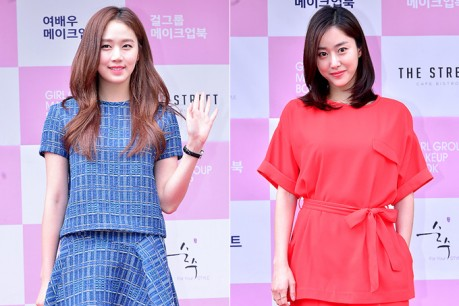 Ko Sung Hee and Jun Hye Bin at Girl Group & Actress Make Up Book Red Carpet