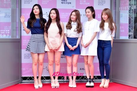 Red Velvet at Girl Group & Actress Make Up Book Red Carpet