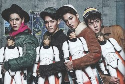 EXO's Suho, Chen, Kai and Sehun Appears in the December 2015 issue of Vogue Korea