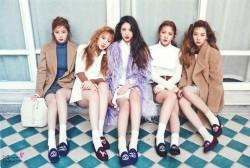 Red Velvet Appears in the December 2015 issue of Nylon Korea