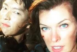 Lee Jun Ki and Milla Jovovich