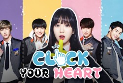 AOA's Min Ah is a high schooler who is surrounded by the handsome guys of the K-pop band, Neoz, in 'Click Your Heart.'