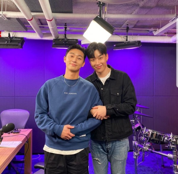 Park Seo Joon and Singer Peakboy Display Close Friendship ...