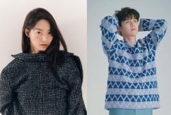 Actors Shin Min Ah and Kim Seon Ho