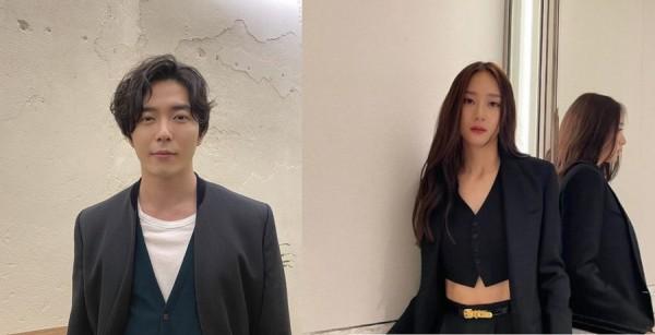 Actor Kim Jae Wook and f(x)'s Krystal Jung