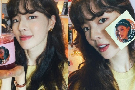 Lee Sun Bin Thanks Song Seung Heon for the Coffee Truck Gift