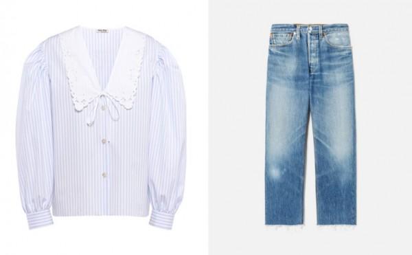 Miu Miu Top, RE/DONE Jeans